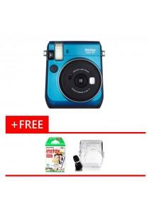 Fujifilm Instax Bundle Mini 70 + Single Pack Film + Crystal Case (Original Malaysia Warranty)(Blue)