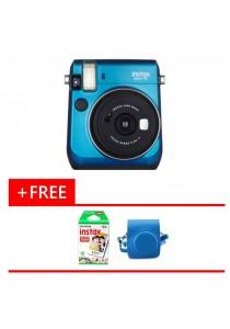 Fujifilm Instax Bundle Mini 70 (Blue) + 10pcs Film + Leather Case (Original Malaysia Warranty)