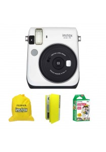 Fujifilm Instax Mini 70 White + Single Pack Film + Album + Pouch (Original Malaysia Warranty)