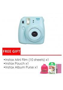 Fujifilm Instax Mini 8 Package Blue (Instax Mini 8 + Filmx1 Box + Bag + Album)