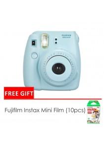 Fujifilm Instax Mini 8 Camera Blue + Single Pack Film (1 Year Original Malaysia Warranty)