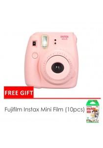 Fujifilm Instax Mini 8 Camera Pink + Single Pack Film (1 Year Original Malaysia Warranty)