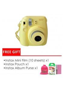 Fujifilm Instax Mini 8 Package Yellow (Instax Mini 8 + Filmx1 Box + Bag + Album)