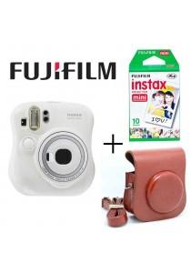 Fujifilm Instax Mini 25 Package White (Instax Mini 25 + Film x1 box + Leather Bag)