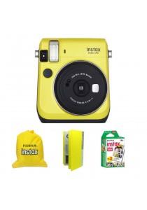 Fujifilm Instax Mini 70 Yellow + Single Pack Film + Album + Pouch (Original Malaysia Warranty)