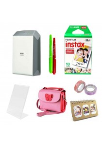 Fujifilm Instax Share SP-2 Silver + 10pcs Plain Film + Butterfly Bag + Arcrylic Stand + 2x Cello Tape + 2x Magic Pen + Photobook (Original Malaysia Warranty)