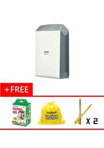 Fujifilm Instax Share SP-2 Printer (Silver) + 20pcs Plain Film + 10pcs Cartoon Film + Pouch + 2xPen