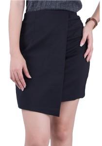 Layered Cotton Pencil Skirt