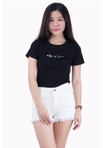 Love Message Cotton Tee JA01016ABK