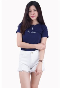 Love Message Cotton Tee JA01016ANV