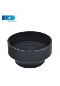 JJC LS-49S 49mm Stage Collapsible Silicone Standard Lens Hood for Camera