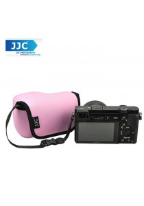 JJC OC-S1P Neoprene Camera Case Mirrorless for Sony, Canon Camera Pouch Bag (Pink)