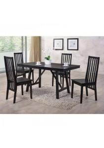 Furniture Direct Jordan 4 Seater Solid Rubberwood Dining Set