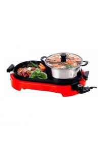 Alpha Living 2-in-1 BBQ Korean Electronic Pan Grill & Steamboat & Teppanyaki Combination (KEA0020)