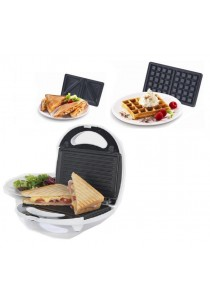 Alpha Living 3 in 1 Snack Maker Sandwiches, Grill and Waffles (KEA0105)