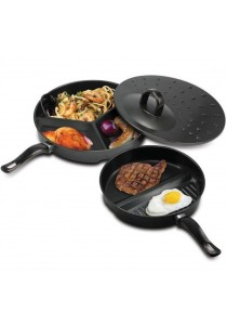 Alpha Living 3 in 1 Premier Divide Wonder Tri-Pan Cooking Set (KEA0119)