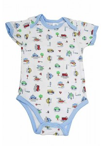 OWEN Baby Bodysuit - BOYS - VEHICLES
