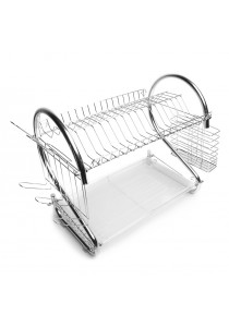Alpha Living S Shape Dish Drainer - Silver (KTN0008)