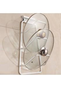 Alpha Living Space Saver Cabinet Pot Pan Lid Holder Rack Organizer - Silver (KTN0080)