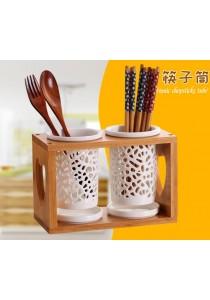 Alpha Living Kitchen Ceramic Cutlery and Chopsticks Holder Drainer (KTN0094)