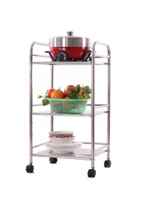 Alpha Living 3 Layer Stainless Steel Multipurpose Oven Storage Rack with Wheel (KTN0100)