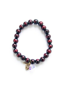Key to Your Heart Beaded Bracelet (Red) Handmade by Shirleen Jeweliciouss