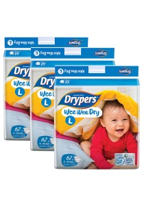3 Packs Wee Wee Drypers Diaper L62