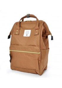 100% Authentic Anello (Mini) Backpack - Polyester Canvas Light Brown