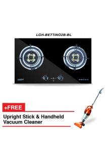 Livinox Built-In Hob LGH-BETTINO2B-BL + HETCH Upright Stick & Handheld Vacuum Cleaner