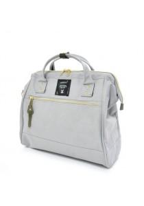 100% Authentic Anello (Regular) Polyester Shoulder Handbag (Light Grey)