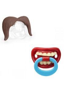 Mustachifier Mustache Pacifier Cum JoyfulBaby Funny Pacifier - MZ-15 (Cowboy)+MZ-NP (D)