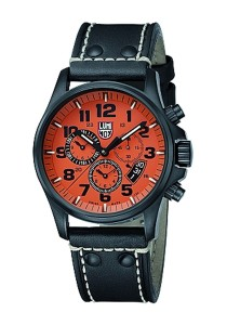 Luminox LM1849 Field Chronograph Alarm PVD/Orange Men's Watch