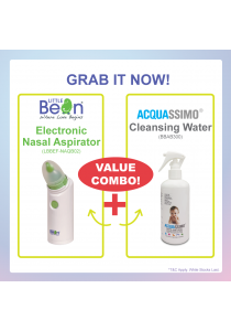 Little Bean Electronic Nasal Aspirator & Acquassimo Cleansing Water