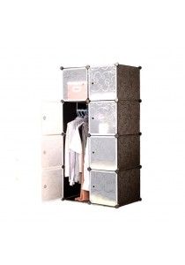 Alpha Living DIY Korean Design Cabinet 8 Cubes Wardrobe (LRA0012)