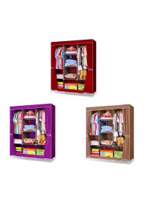 Alpha Living King Sized Waterproof Multi-functional Wardrobe-Curtain Design Brown/Purple/Red (LRA0036)