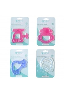 Babito Soft Silicone Baby Teether - Copter Pink)