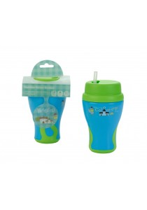 Babito Baby Silicone Straw Drinking Cup Step 2 (Blue Green)