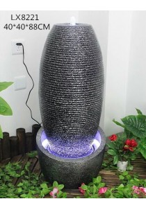 Black Vase Feng Shui Water Fountain LX8221