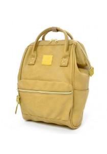 Anello Original Unisex PU Faux Leather Regular Backpack Rucksack Bag (LYE)