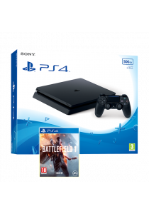 PS4 Slim 500GB Black Console + Battlefield 1