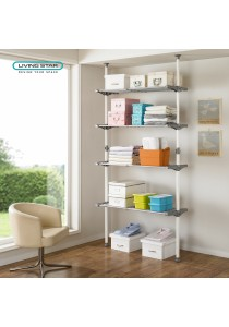 Living Star Flexible 4 Tiers Multi-Usage Adjustable Shelves: LS-2784