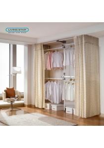 Living Star Flexible Wardrobe 4 Tiers Curtain Adjustable Width: LS-3101