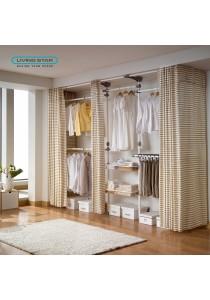 Living Star Flexible Wardrobe 4 Tiers Dress Room: LS-3651