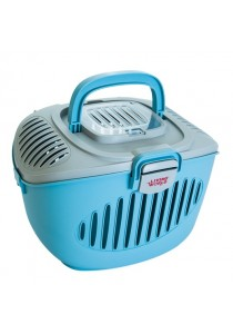 Living World Paws2Go Small Pet Carrier - Grey/Blue