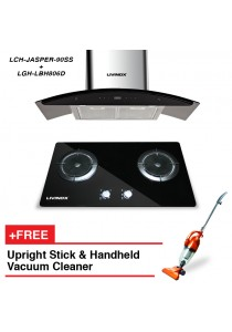 Livinox Cooker Hood LCH-JASPER-90SS + Built-In Hob LBH806D (HONEYCOMB) + FREE HETCH Upright Stick Vac
