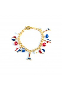 Love in Paris Gold Bracelet Handmade by Shirleen Jeweliciouss