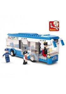 Sluban M38-B0330 City Bus 3D DIY Building Blocks Bricks Set (235 PCS)