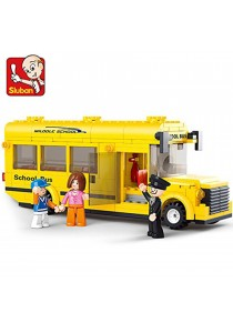 "Sluban M38-B0507 School Bus ""Town"" Building Kit (219 Pieces)"