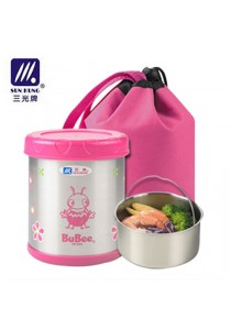 BUBEE Keep Warm Lunch Box 700ml-PINK