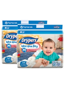 2 Packs Wee Wee Drypers Diaper M74